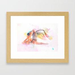Yoga me Love Framed Art Print