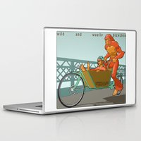 sasquatch Laptop & iPad Skins featuring Sasquatch: Wild and Woolly Bicycles by Joseph Boquiren