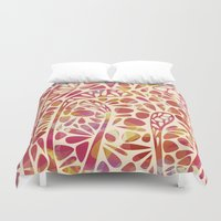 olivia joy Duvet Covers featuring Joy by Nic Squirrell