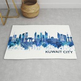 Kuwait City Kuwait Skyline Blue Rug