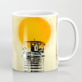 Sunset Boat Silhouette Coffee Mug