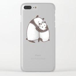 Panda Cuddle Clear iPhone Case