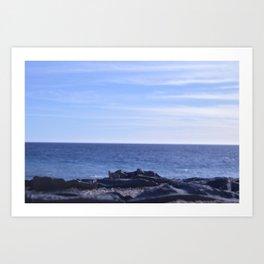 sea rocks. Art Print