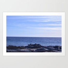 sea rocks. Art Print