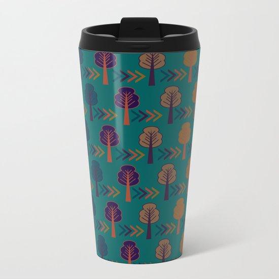Trees and arrows Metal Travel Mug