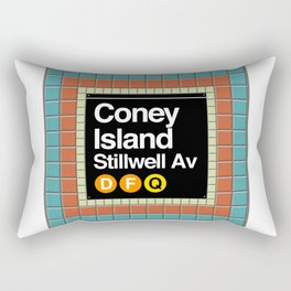 subway coney island sign Rectangular Pillow