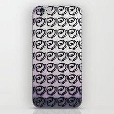Rows of Flowers, Purple iPhone Skin