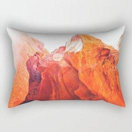 texture of the orange rock and stone at Antelope Canyon, USA Rectangular Pillow