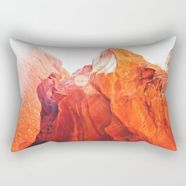texture of the orange rock and stone at Antelope Canyon, USA Rectangular Pillow
