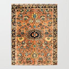 Sarouk Poshti Vintage Persian Rug Print Poster