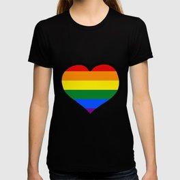 LGBT+ Rainbow Pride Heart T-shirt