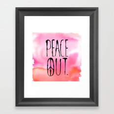 Peace Out. Framed Art Print