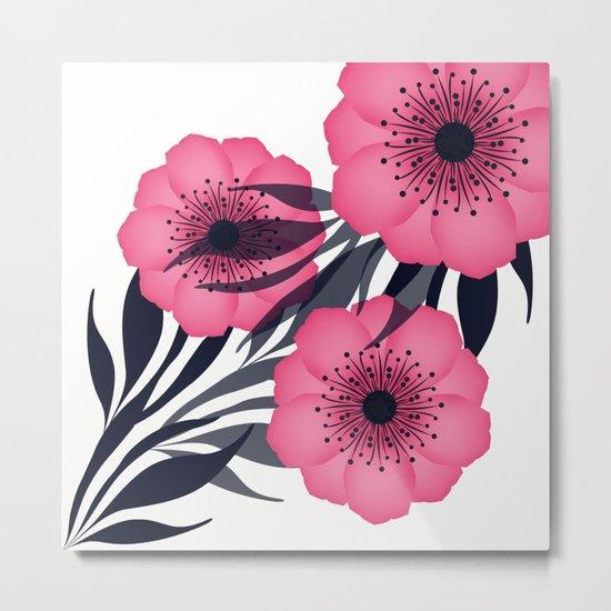 Pink flowers. Metal Print