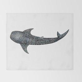 Whale shark Rhincodon typus Throw Blanket