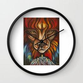 'Lynx' by Vanessa Stark Wall Clock