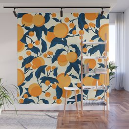 Vintage Apricot Pattern Wall Mural