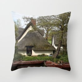 Constable Thatched Bridge Cottage, Flatford Throw Pillow