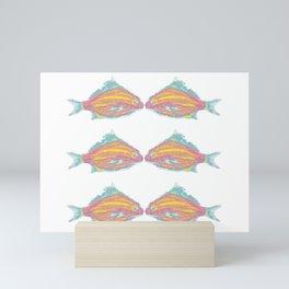 Tropical Kissing Fish Mini Art Print