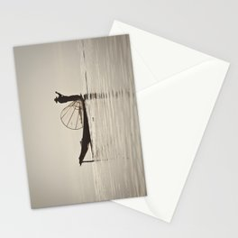 Fisherman at Inle Lake Stationery Cards