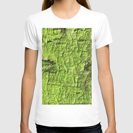 Mossy Green Abstract T-shirt