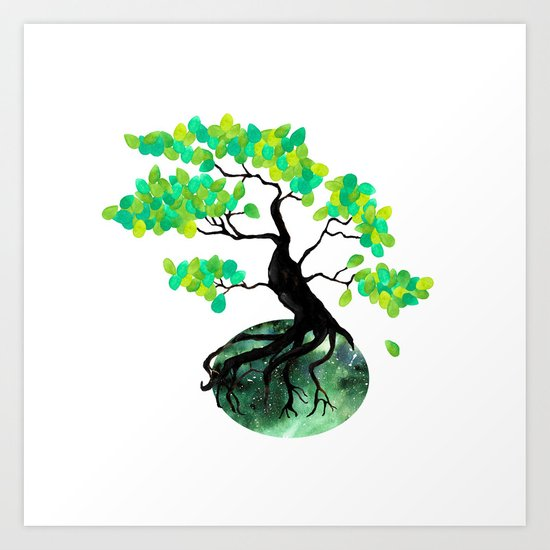 Organic Bonsai Art Print