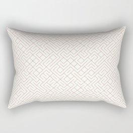10 Print: Thin Red Rectangular Pillow
