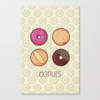 donuts Canvas Prints featuring Donuts by Monstruonauta