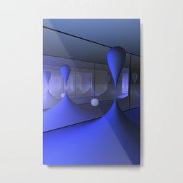 mirrors and globs -1- Metal Print