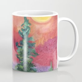 Fire in the Northern Sky Coffee Mug