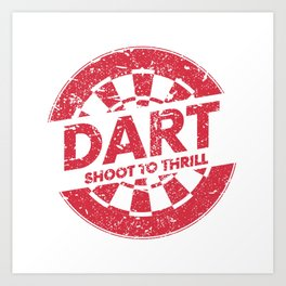 Darts WM Darts Arrow Dartboard Gift Art Print