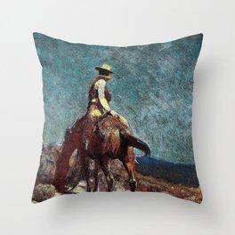 The Night Guard - William Herbert Dunton Throw Pillow