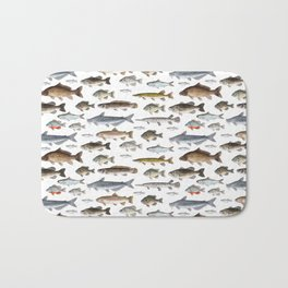 A Few Freshwater Fish Badematte