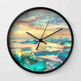 Crystal snow desert Wall Clock