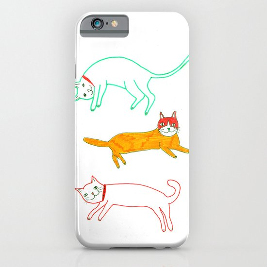 Lying cats iPhone & iPod Case