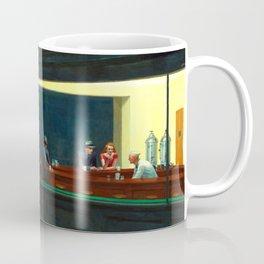 Nighthawks Painting Restored Edward Hopper Coffee Mug