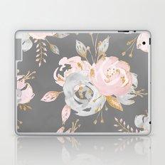 Night Rose Garden Gray Laptop & iPad Skin