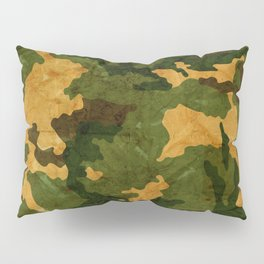 Camouflage Muster Grunge Pillow Sham