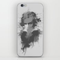 beethoven iPhone & iPod Skins featuring BEETHOVEN by Resistance