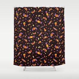 Cute Halloween Candy Corn Pattern Shower Curtain