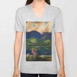 "George Wesley Bellows ""Coopers Lake"" Unisex V-Neck"
