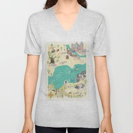 Princess Bride Discovery Map Unisex V-Neck