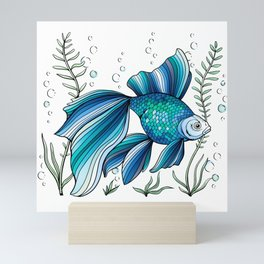 Blue Fish Mini Art Print