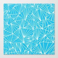 Ab Fan Electric Blue Canvas Print