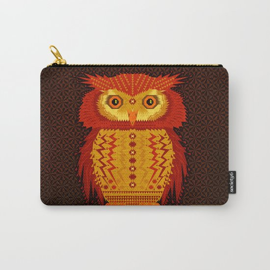 Geometric Owl Carry-All Pouch