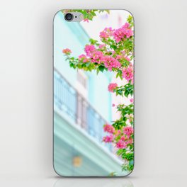 Colonial Havana Architecture with Pink Bougainvillea iPhone Skin