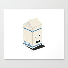 Cute kawaii milk carton Canvas Print
