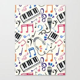 Good Beats - Music Notes & Symbols Canvas Print