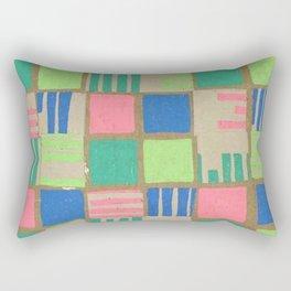 Multi Colored Grid Rectangular Pillow