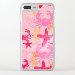 Sea World Vintage Pink Clear iPhone Case