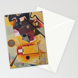 Wassily Study Repro yellow red blue 1925  Stationery Cards